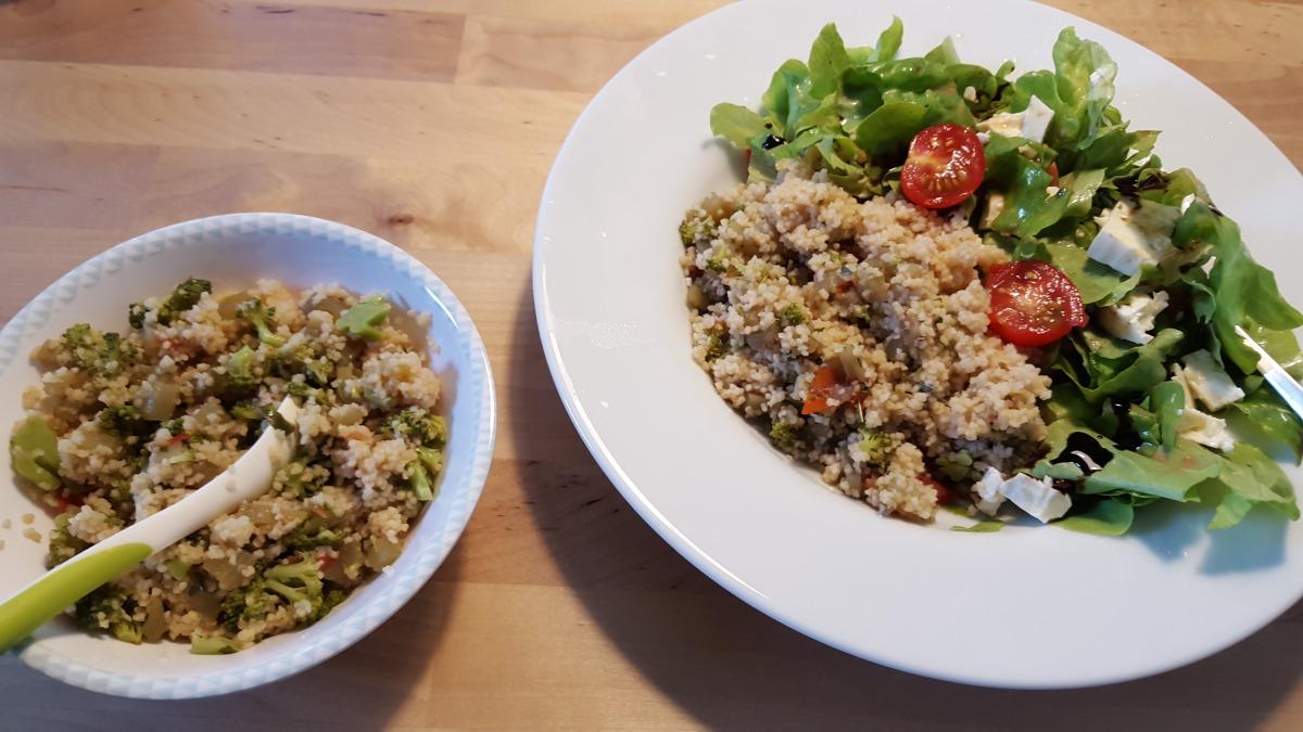 Couscous mit Gemüse - Rezept für Mama und Baby im 11. Monat